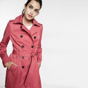 EXPRESS TRENCH COAT WITH TRAPUNTO STITCH SASH